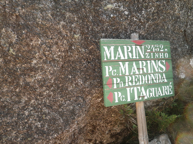 Placa da altitude do Marinzinho