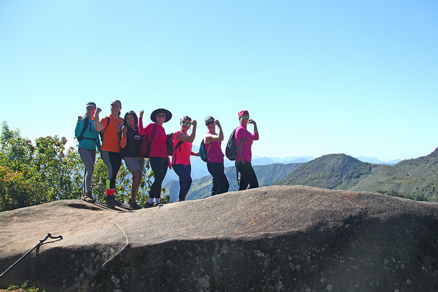 As mulheres do Grupo na Pedra do Sofá